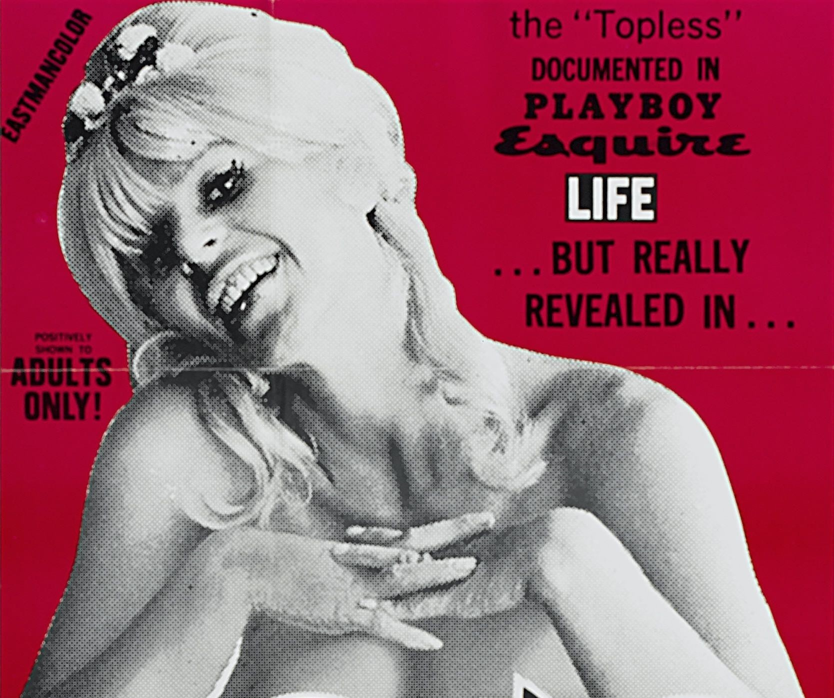 The best things in life are topless, semi naked girl with bottle poster